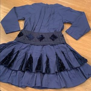 JEAN BOURGET~Size 4~Tier Detail Belted Dress
